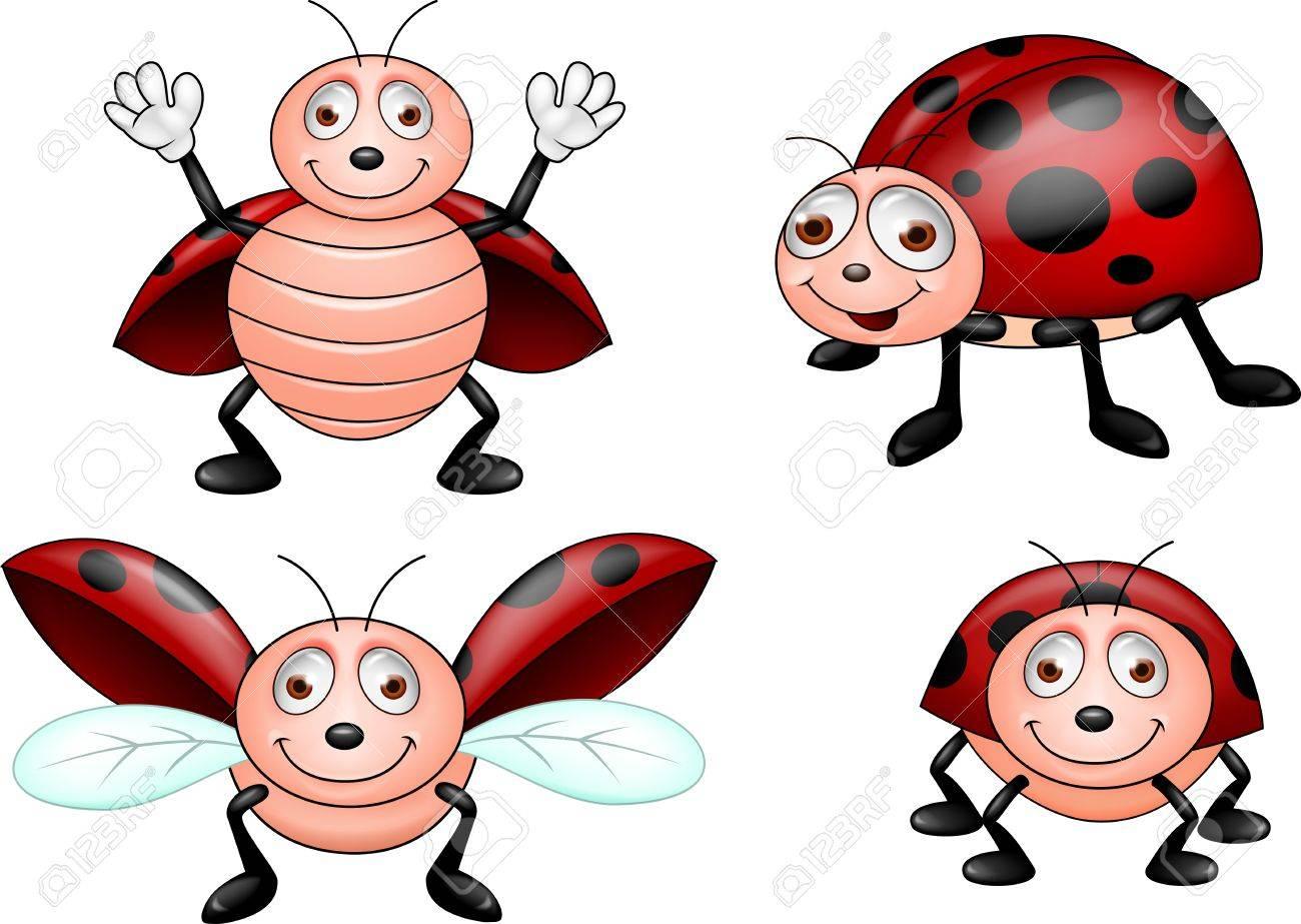Ladybug cartoon collection set Stock Vector - 17177742