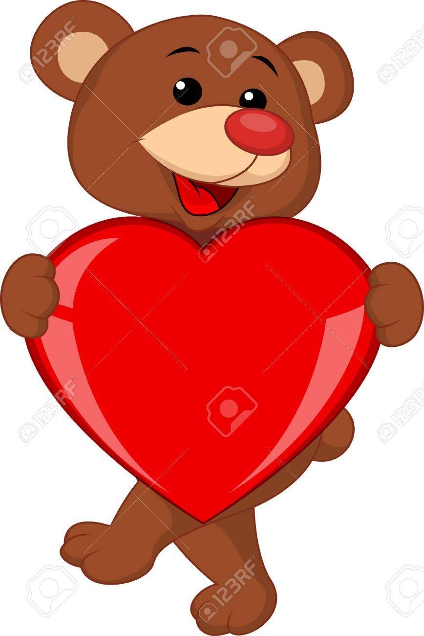 Bear with love heart Stock Vector - 17473758