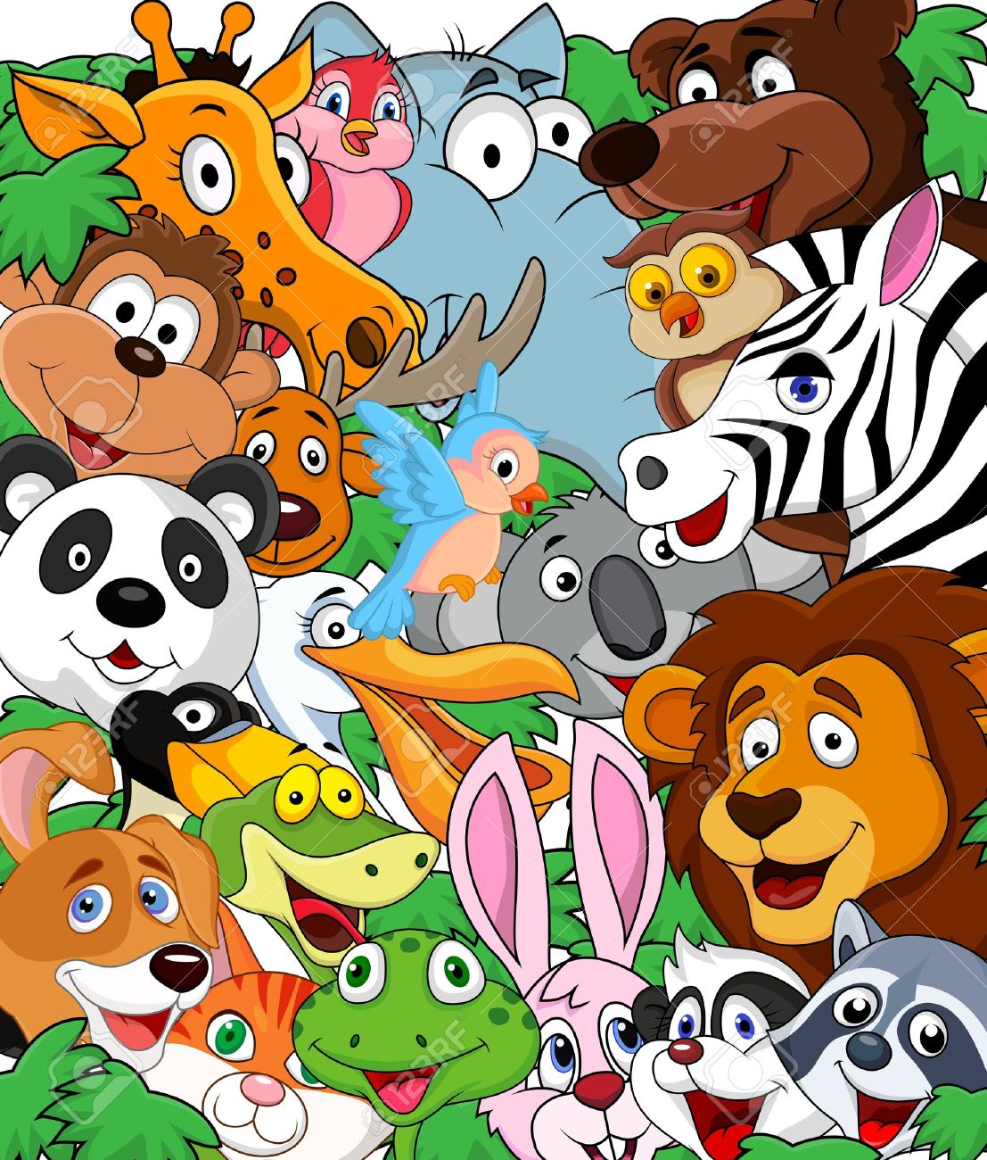 animal cartoon background royalty free cliparts vectors and