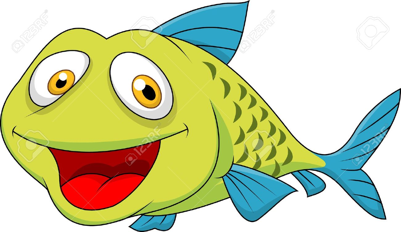 Cartoon happy fish