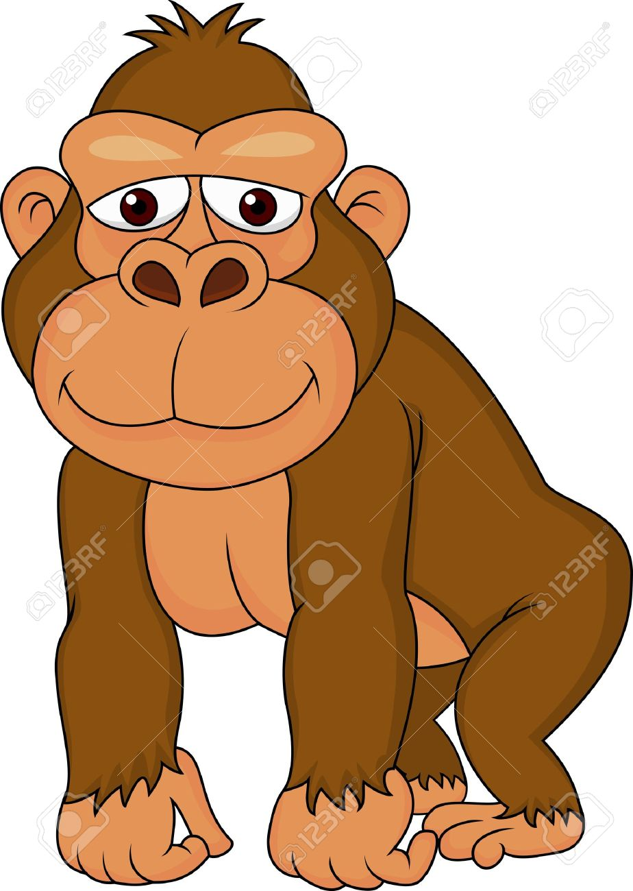 Cute gorilla cartoon Stock Vector - 18047078