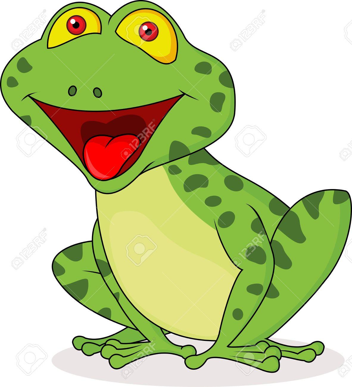 Cute frog cartoon Stock Vector - 18586382