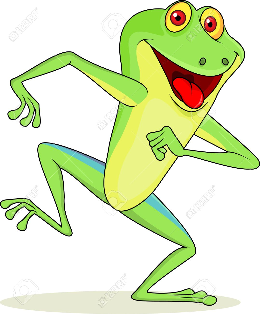 funny frog cartoon royalty free cliparts vectors and stock rh 123rf com Frog Prince Frog Silhouette