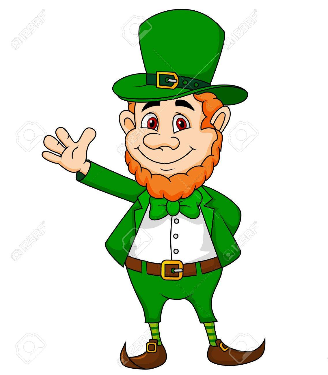 Uncategorized Leprechauns History leprechaun stock photos pictures royalty free images cartoon waving hand illustration