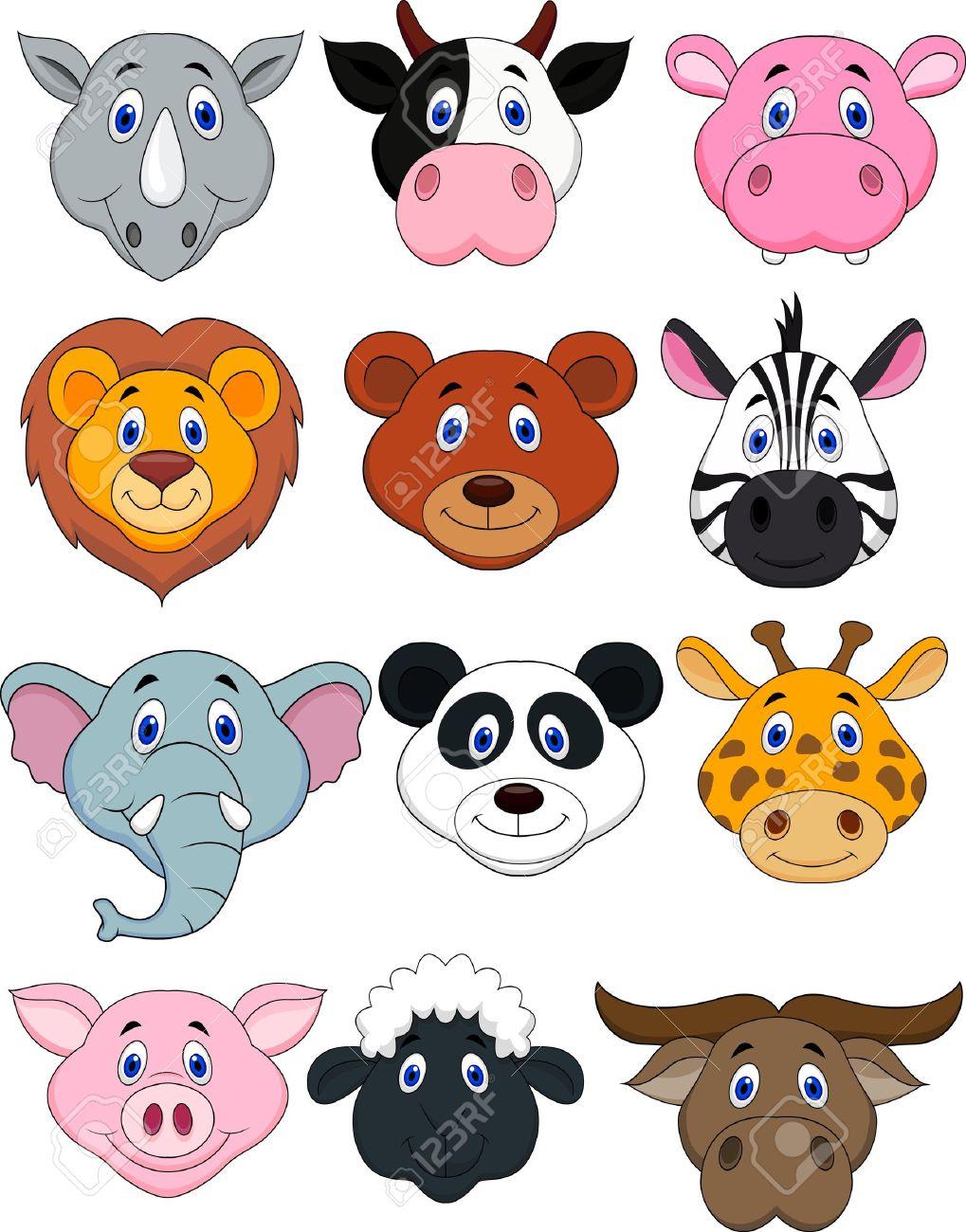 Zebra Face: Cartoon Animal Head Icon