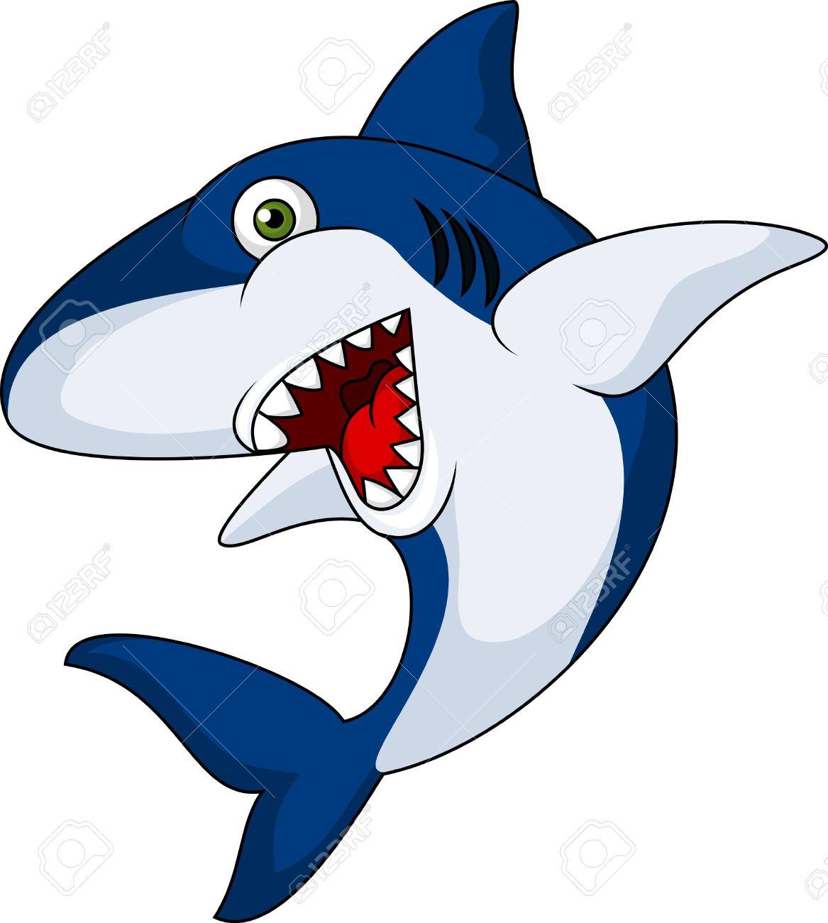 smiling shark cartoon royalty free cliparts vectors and stock rh 123rf com Shark Silhouette Clip Art Funny Shark Clip Art