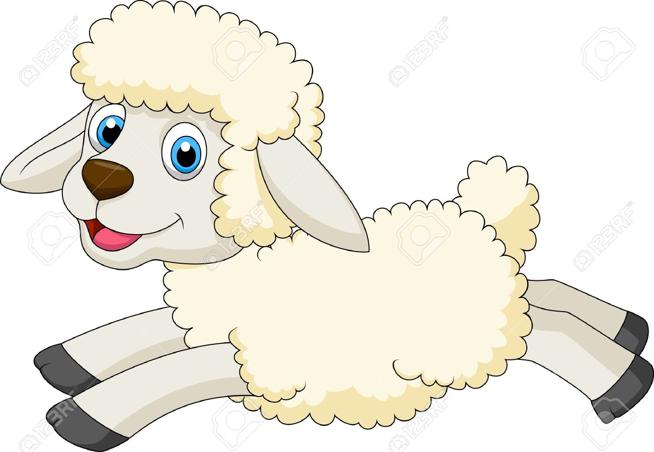 Cute Sheep Jumping Royalty Free Cliparts, Vectors, And Stock ... for Happy Lamb Jumping  51ane