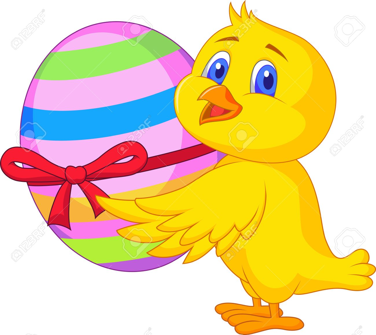 Cute chicken cartoon with easter egg Stock Vector - 19119616