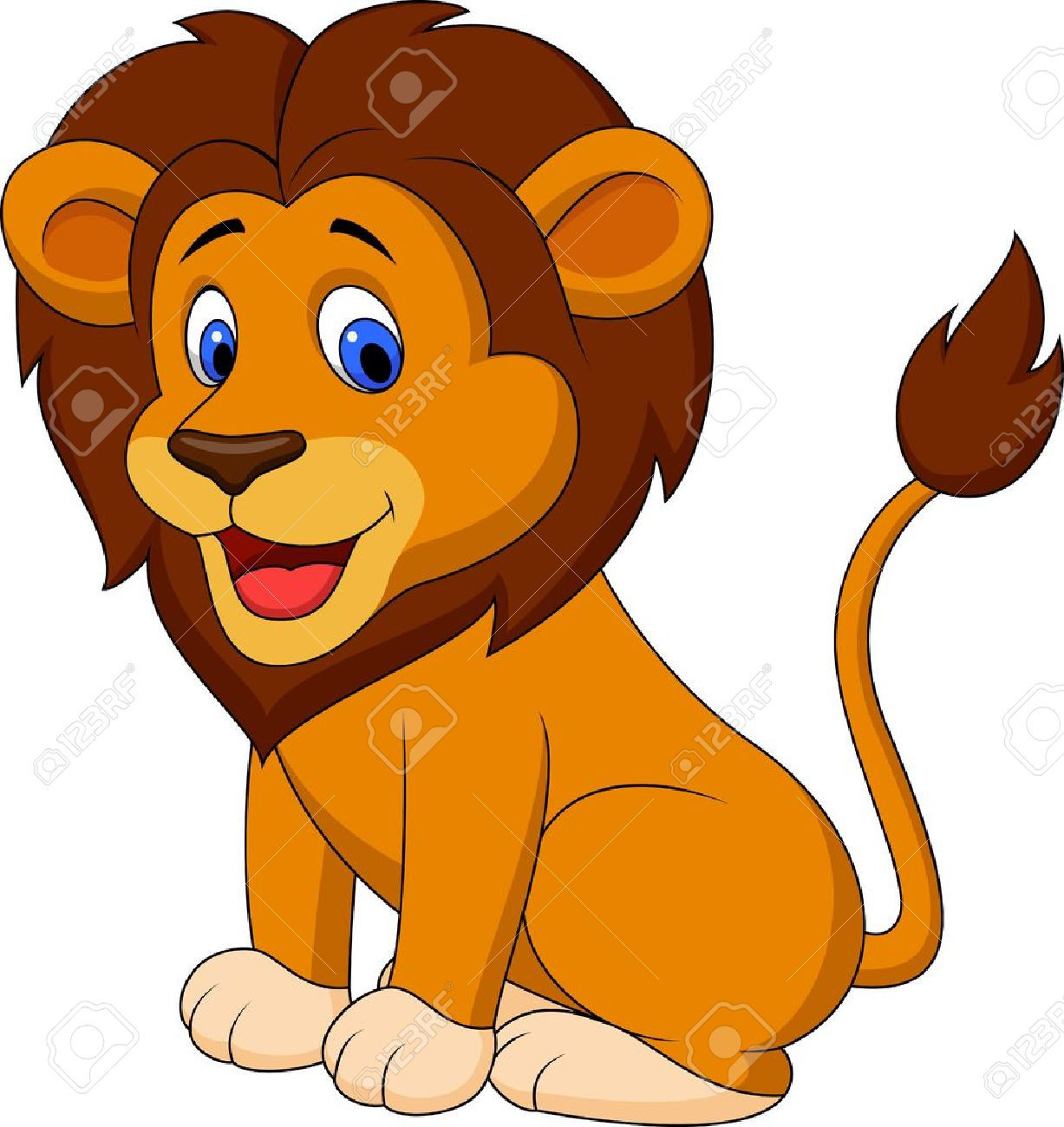 funny lion cartoon royalty free cliparts vectors and stock rh 123rf com lion cartoon pictures color cartoon lion pictures cute