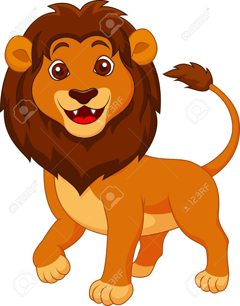 Cute Lion Cartoon Stock Photo, Picture And Royalty Free Image ...