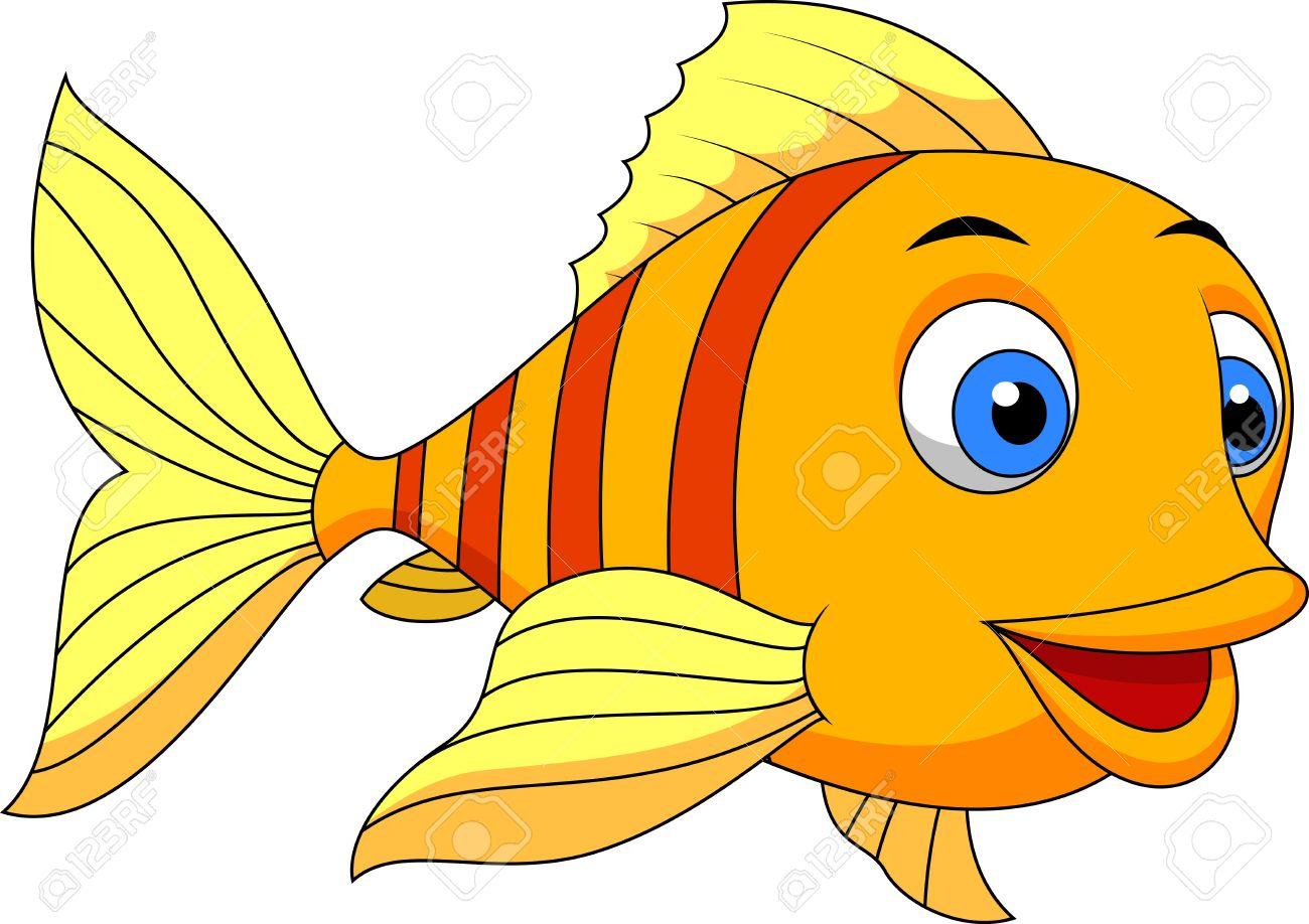 Cute fish cartoon - 19583231