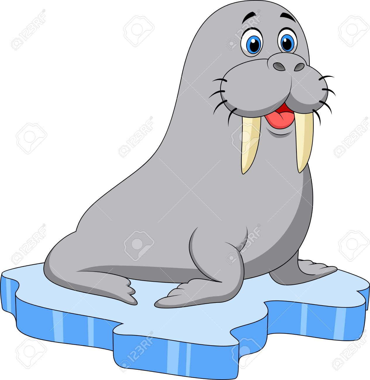 cute walrus cartoon on ice royalty free cliparts vectors and stock rh 123rf com Whale Clip Art Whale Clip Art