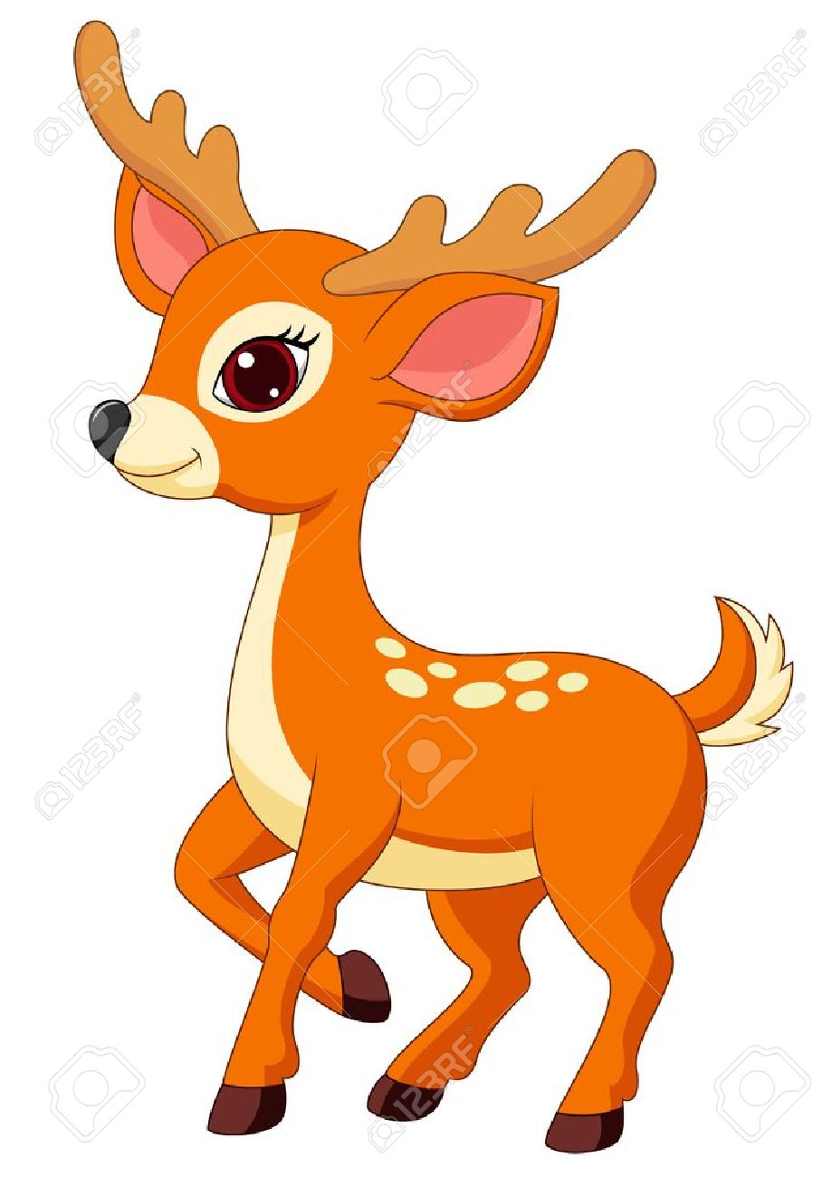 Cute Deer Cartoon Royalty Free Cliparts Vectors And Stock