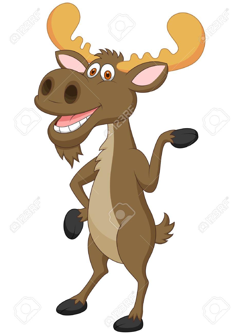 moose cartoon waving royalty free cliparts vectors and stock rh 123rf com bull moose cartoon pictures bull moose cartoon pictures