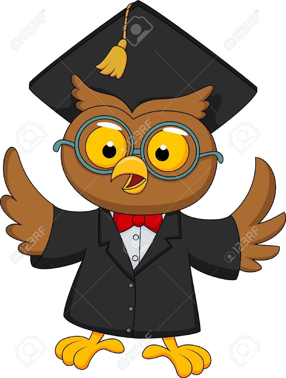 Wise owl cartoon Stock Vector - 19864790