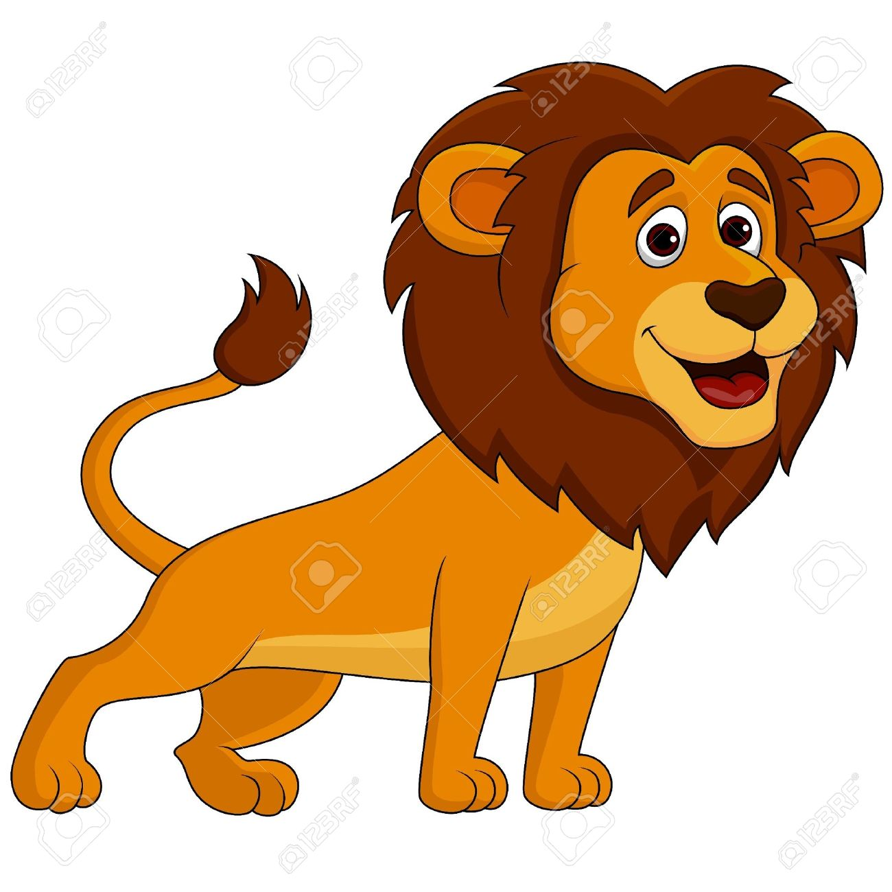 cute lion cartoon royalty free cliparts vectors and stock rh 123rf com free lion mascot clipart free lion clipart black and white