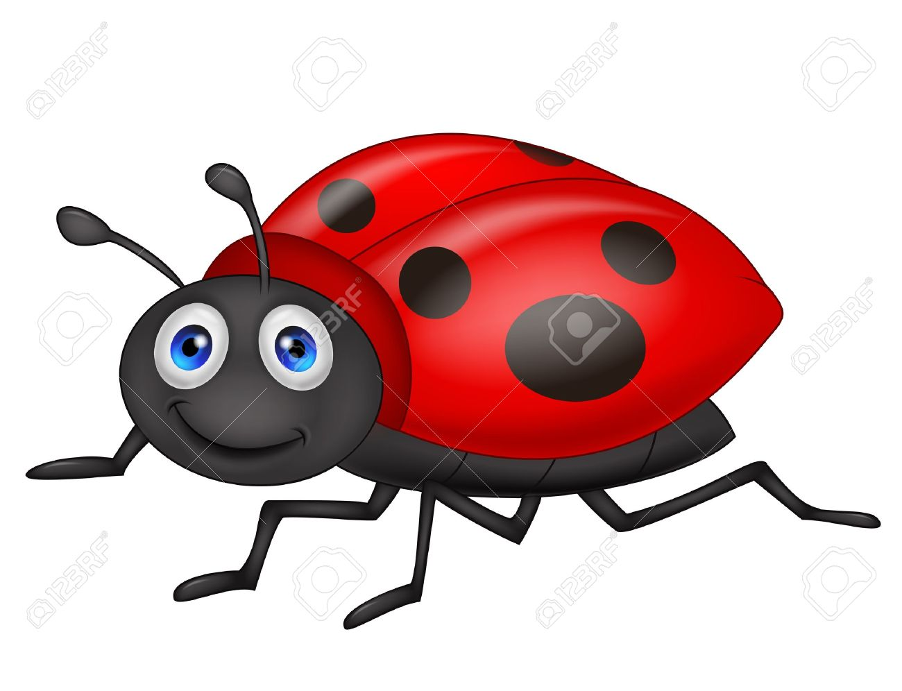cute ladybug cartoon royalty free cliparts vectors and stock