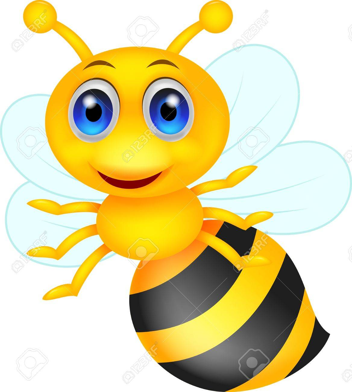 cute bee cartoon royalty free cliparts vectors and stock