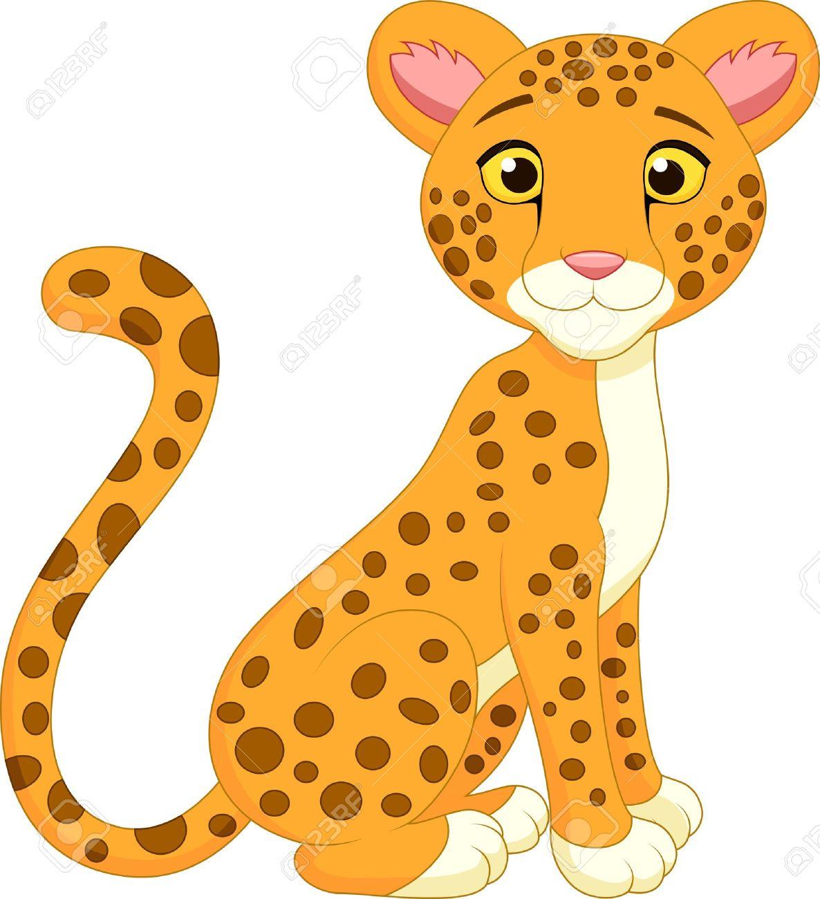 Cute cheetah cartoon Stock Vector - 20219413