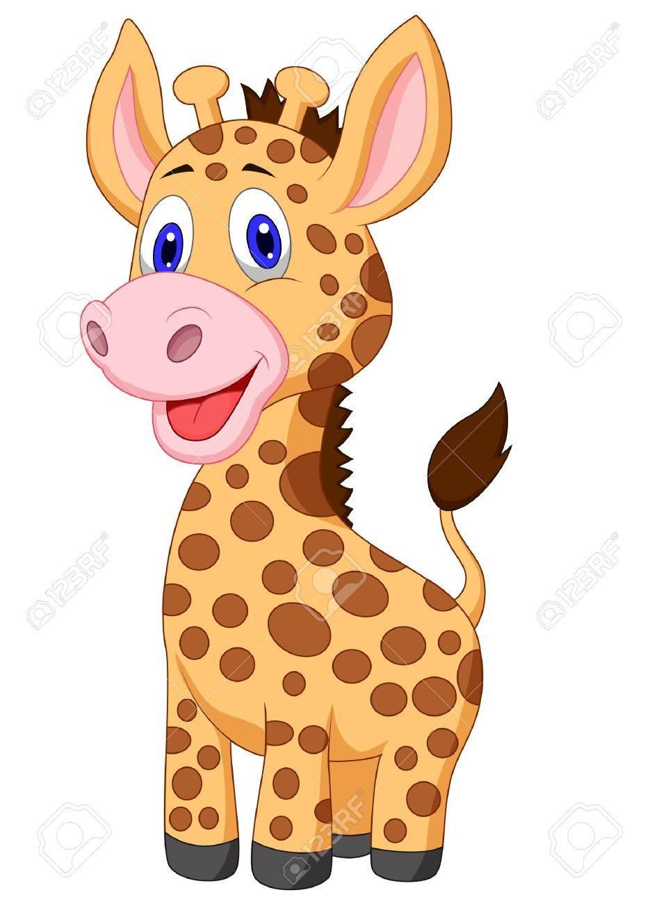 Cute baby giraffe cartoon Stock Vector - 20219435