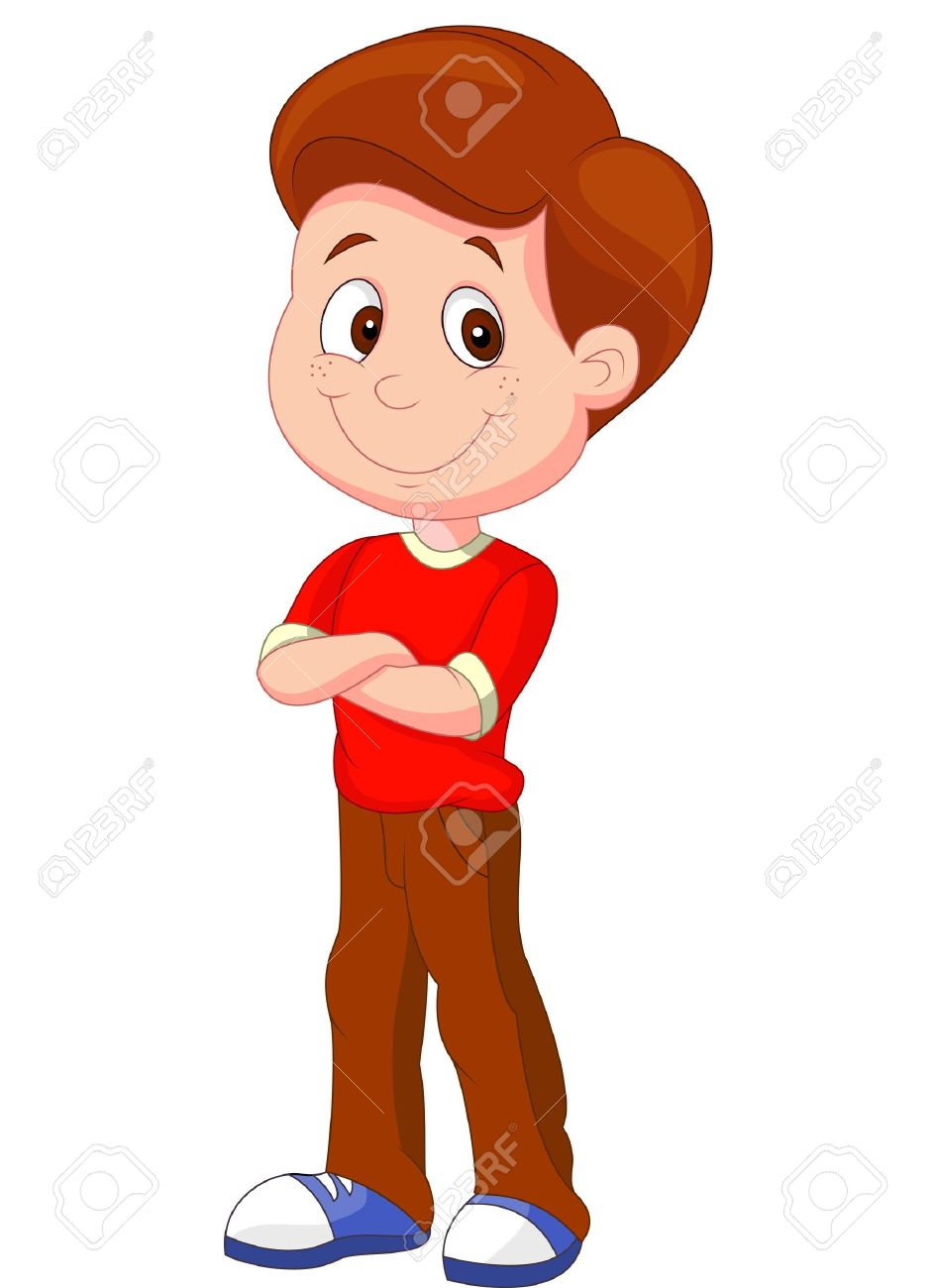 Cute Boy Cartoon Standing Royalty Free Cliparts Vectors And Stock