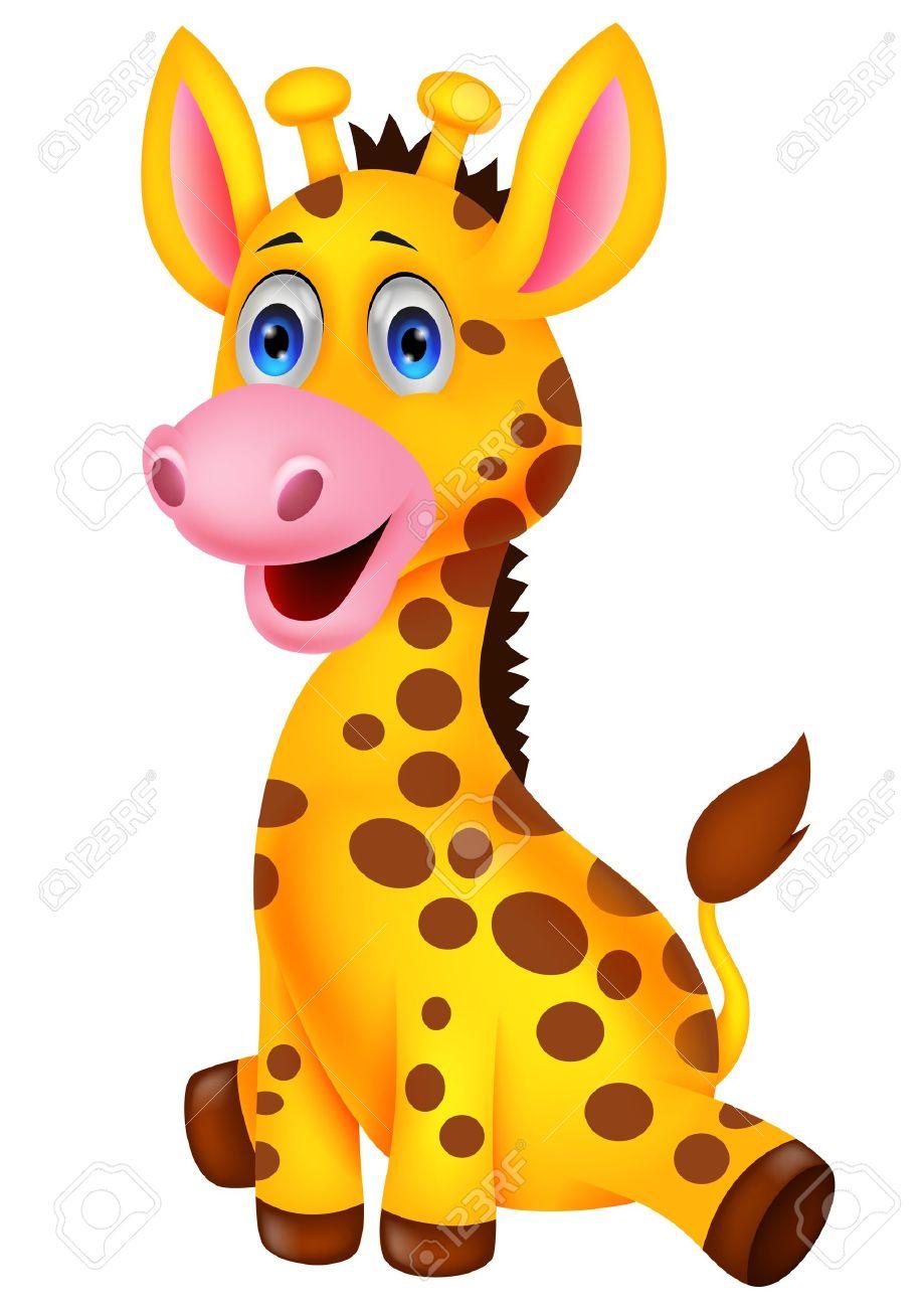 Cute baby giraffe cartoon - 20754168