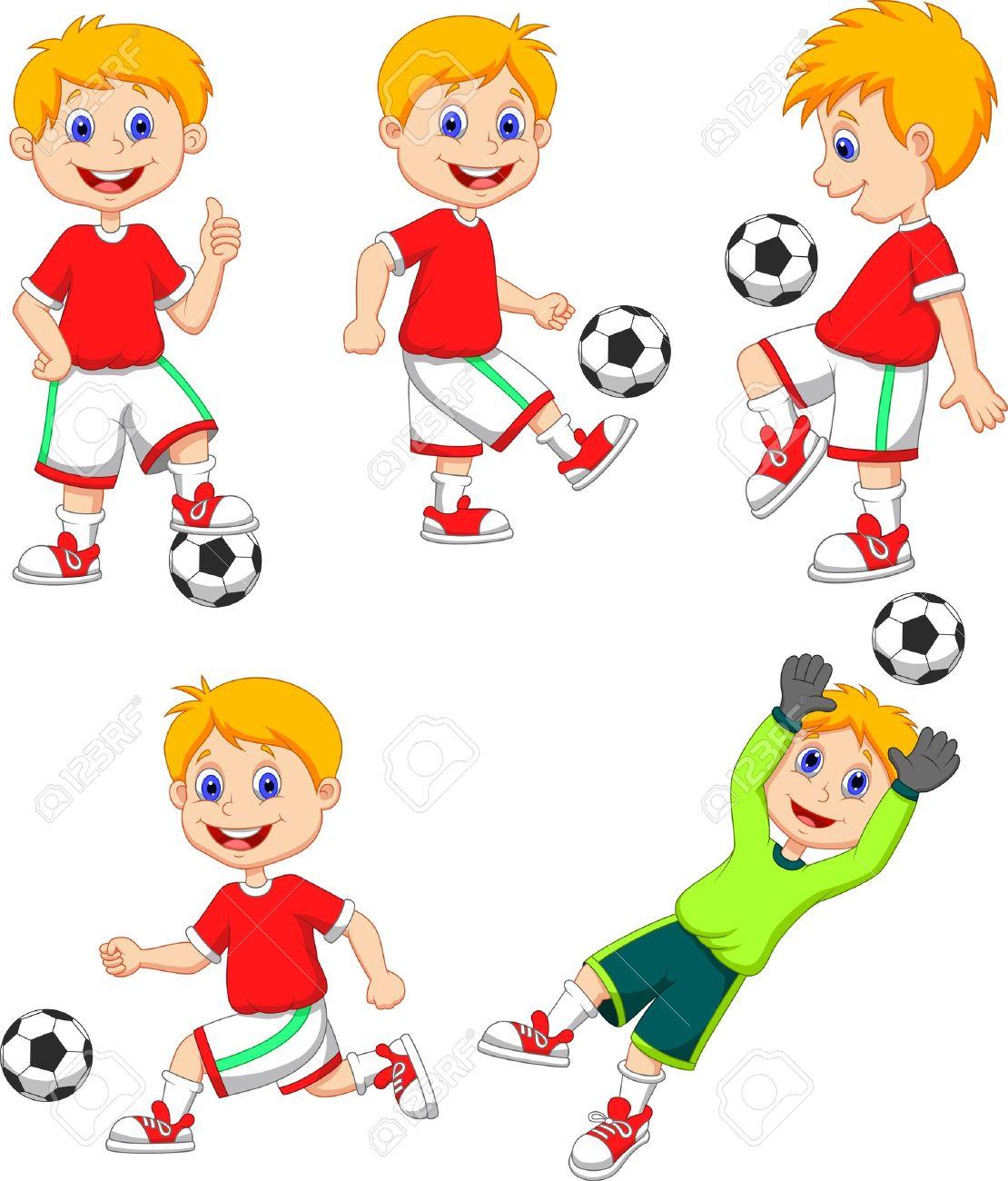 Niño Jugando Al Fútbol Imágenes De Archivo, Vectores, Niño ...