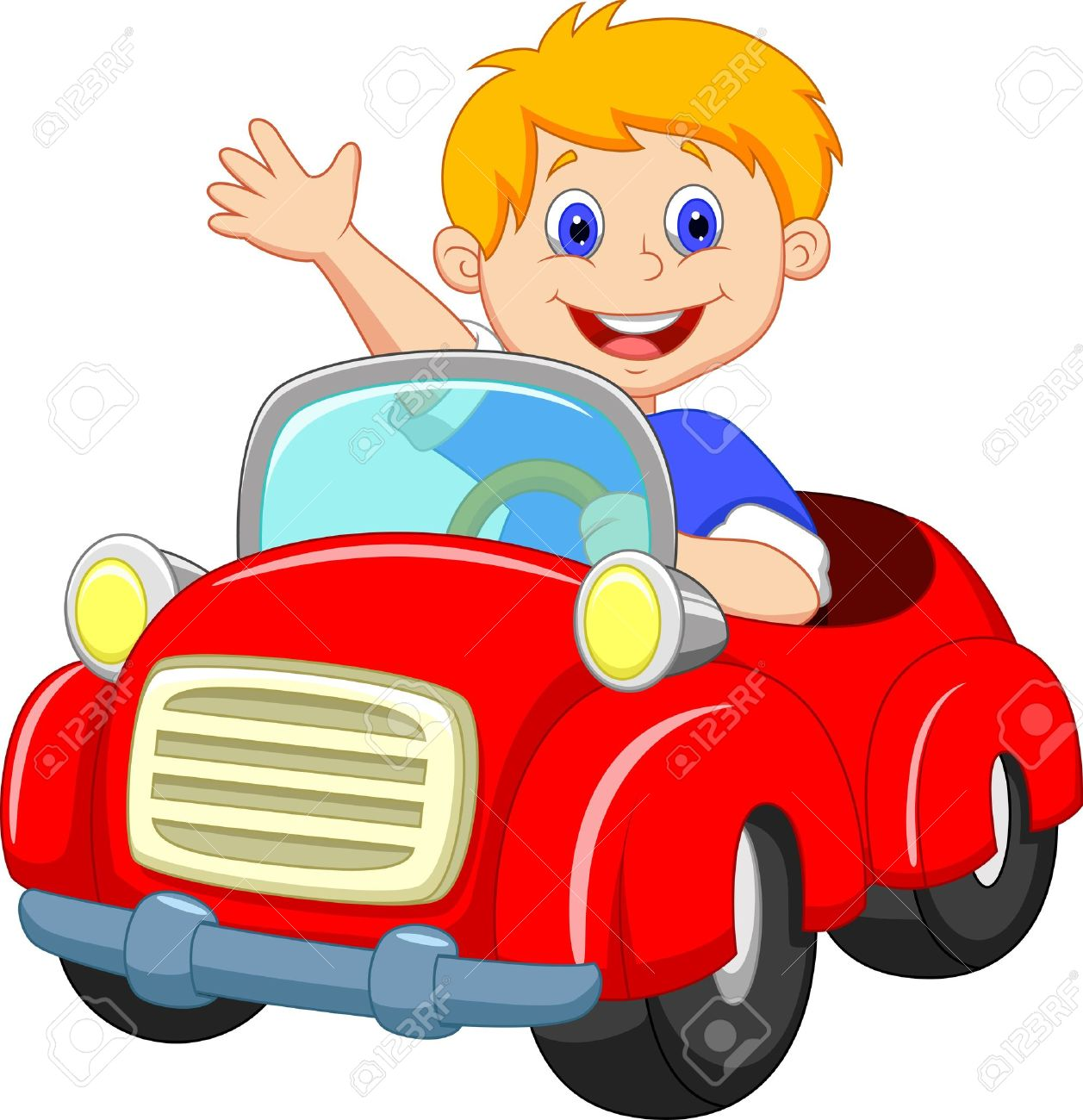 Red Racing Car Clipart in The Red Car Clipart