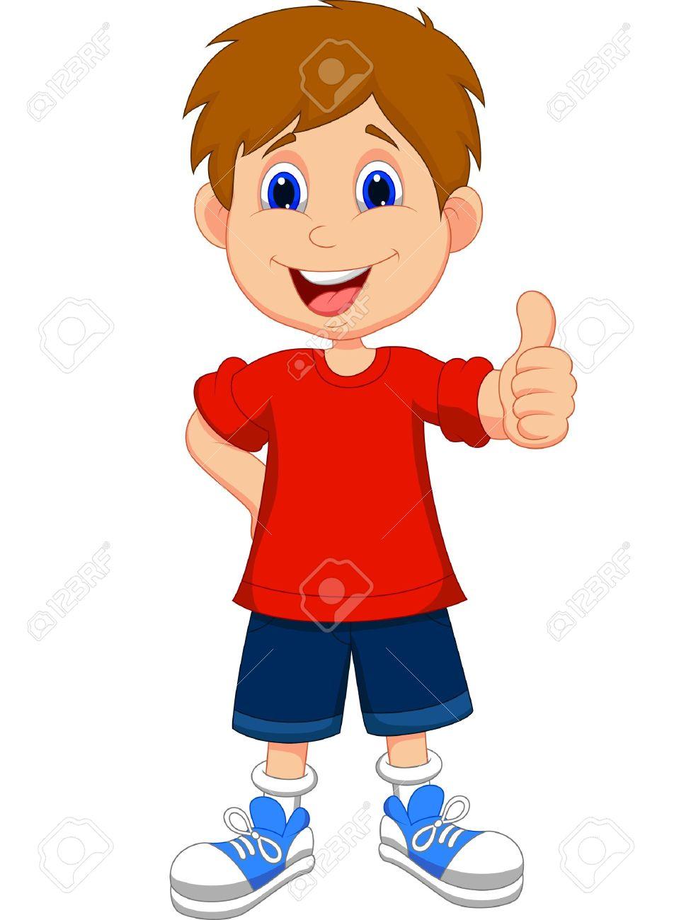 Cartoon boy giving you thumbs up stock vector 20754020