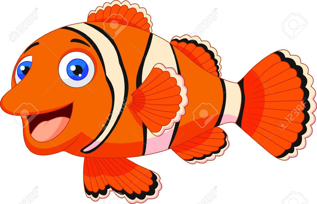 cute clown fish cartoon royalty free cliparts vectors and stock rh 123rf com images of cartoon fish with rifle images of cartoon fish with guns