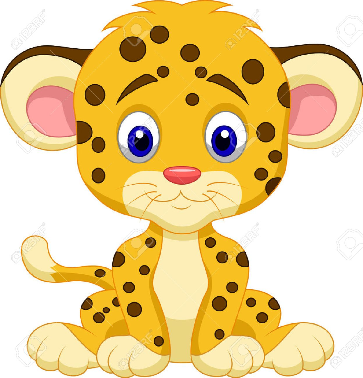 Baby Leopard Cartoon Royalty Free Cliparts, Vectors, And Stock ... for Clipart Leopard Cute  165jwn