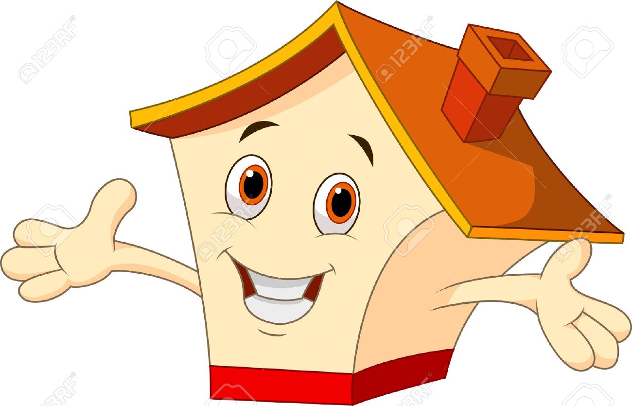 Haus bauen clipart  Cute House Cartoon Lizenzfrei Nutzbare Vektorgrafiken, Clip Arts ...