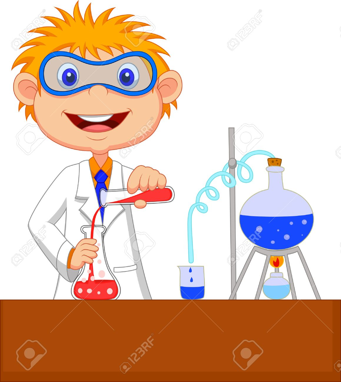 Pics photos clip art cartoon scientist with question mark stock - Scientific Boy Cartoon Doing Chemical Experiment