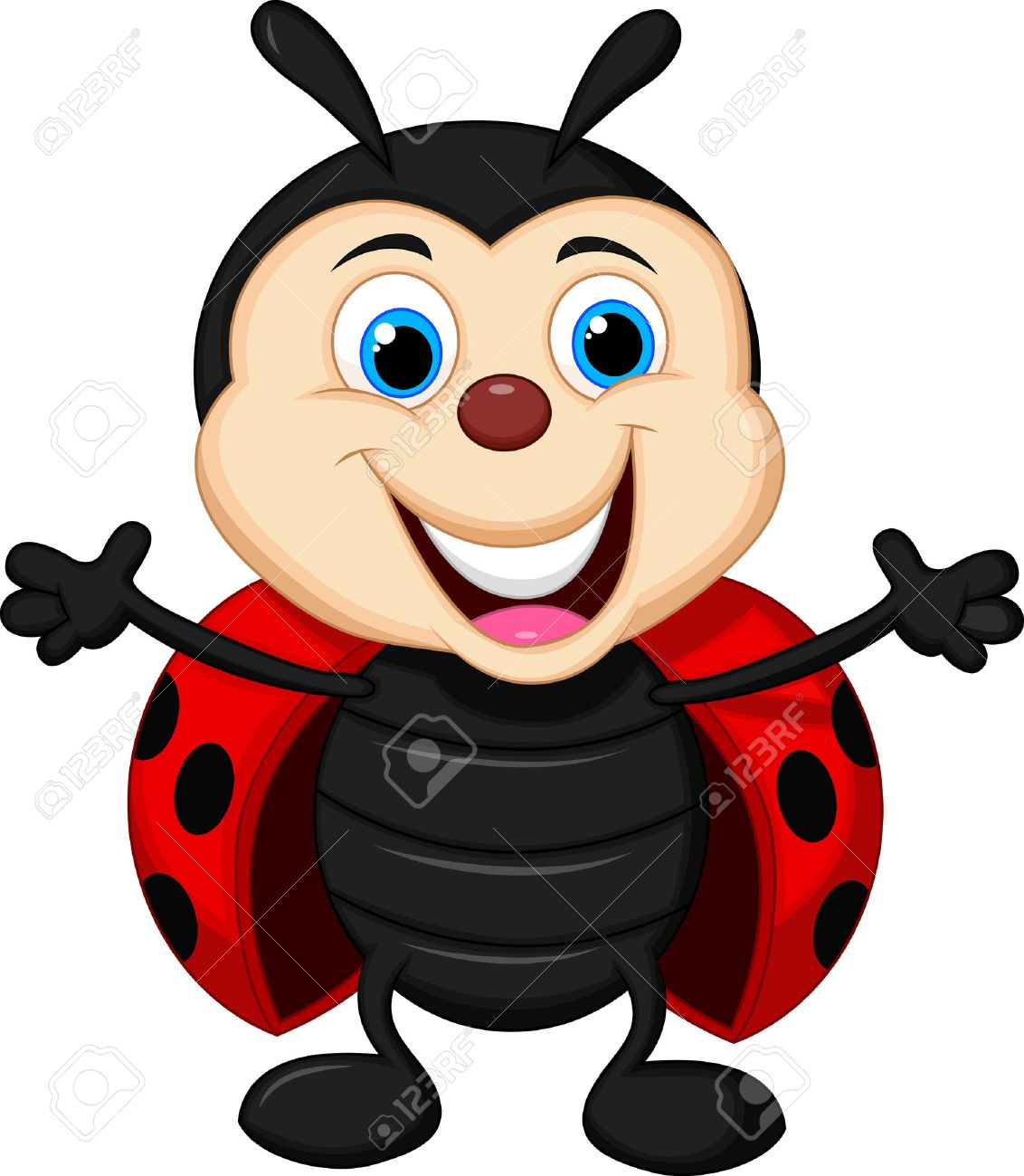 A Cartoon Ladybug happy ladybug cartoon