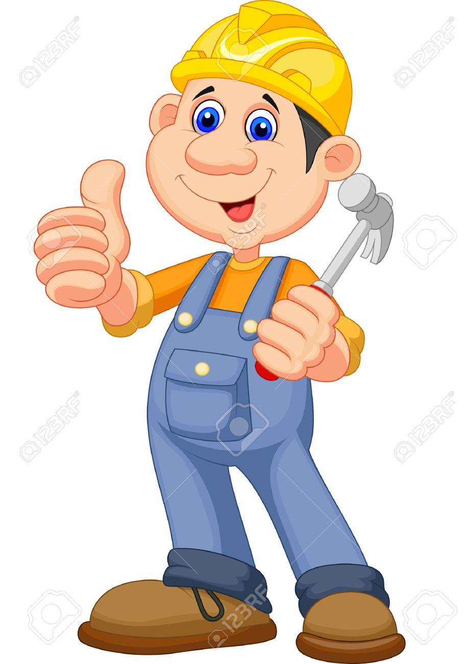 Bauarbeiter zeichnung  Cartoon Bauarbeiter Handwerker Lizenzfrei Nutzbare Vektorgrafiken ...
