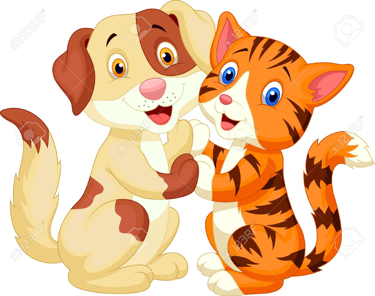 657 Dog And Cat Together Cliparts, Stock Vector And Royalty Free ...