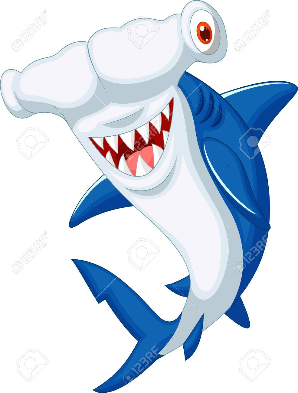 cute hammerhead shark cartoon royalty free cliparts vectors and rh 123rf com hammerhead shark clipart free hammerhead shark clipart images