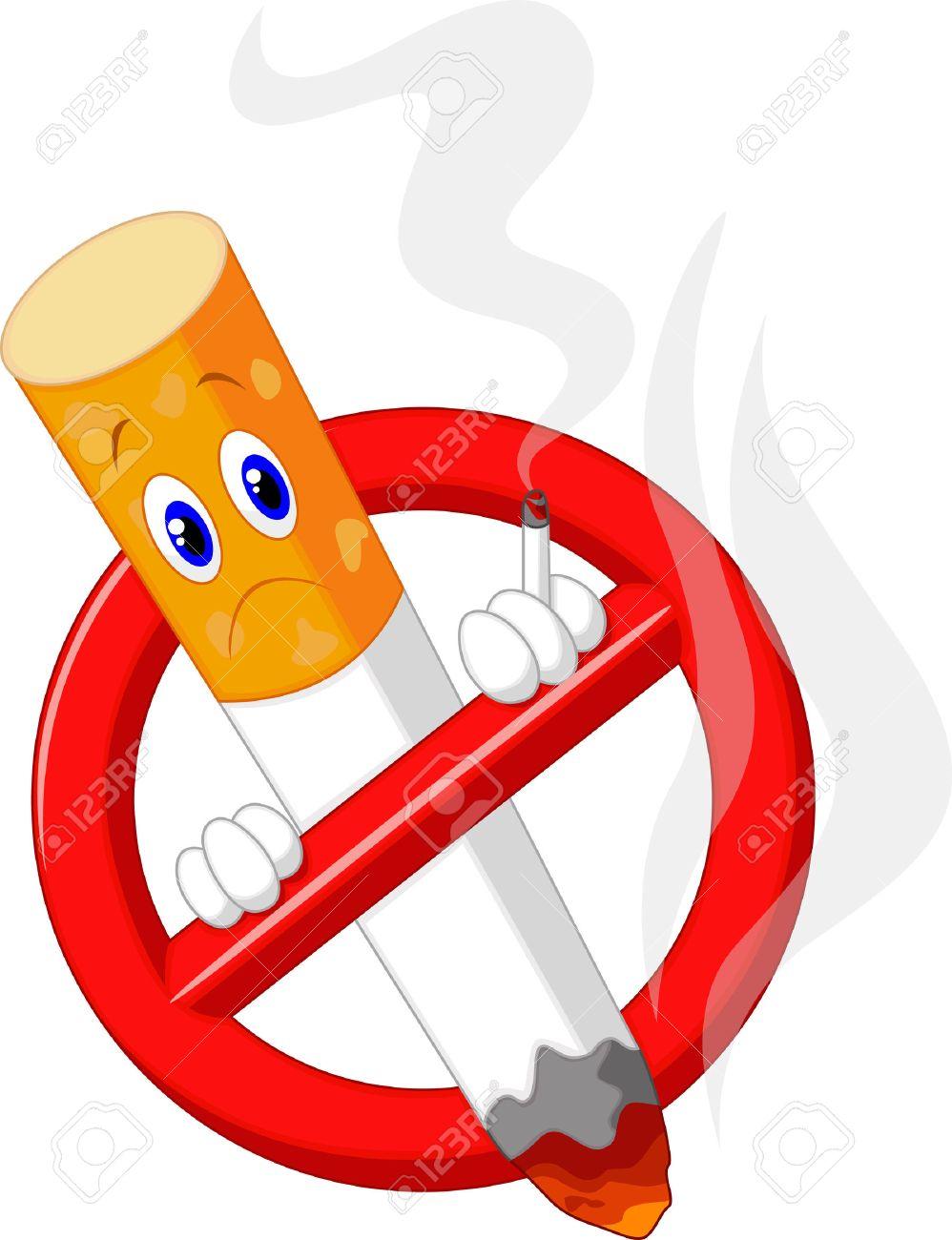 No Smoking Cartoon Symbol Royalty Free Cliparts Vectors And Stock