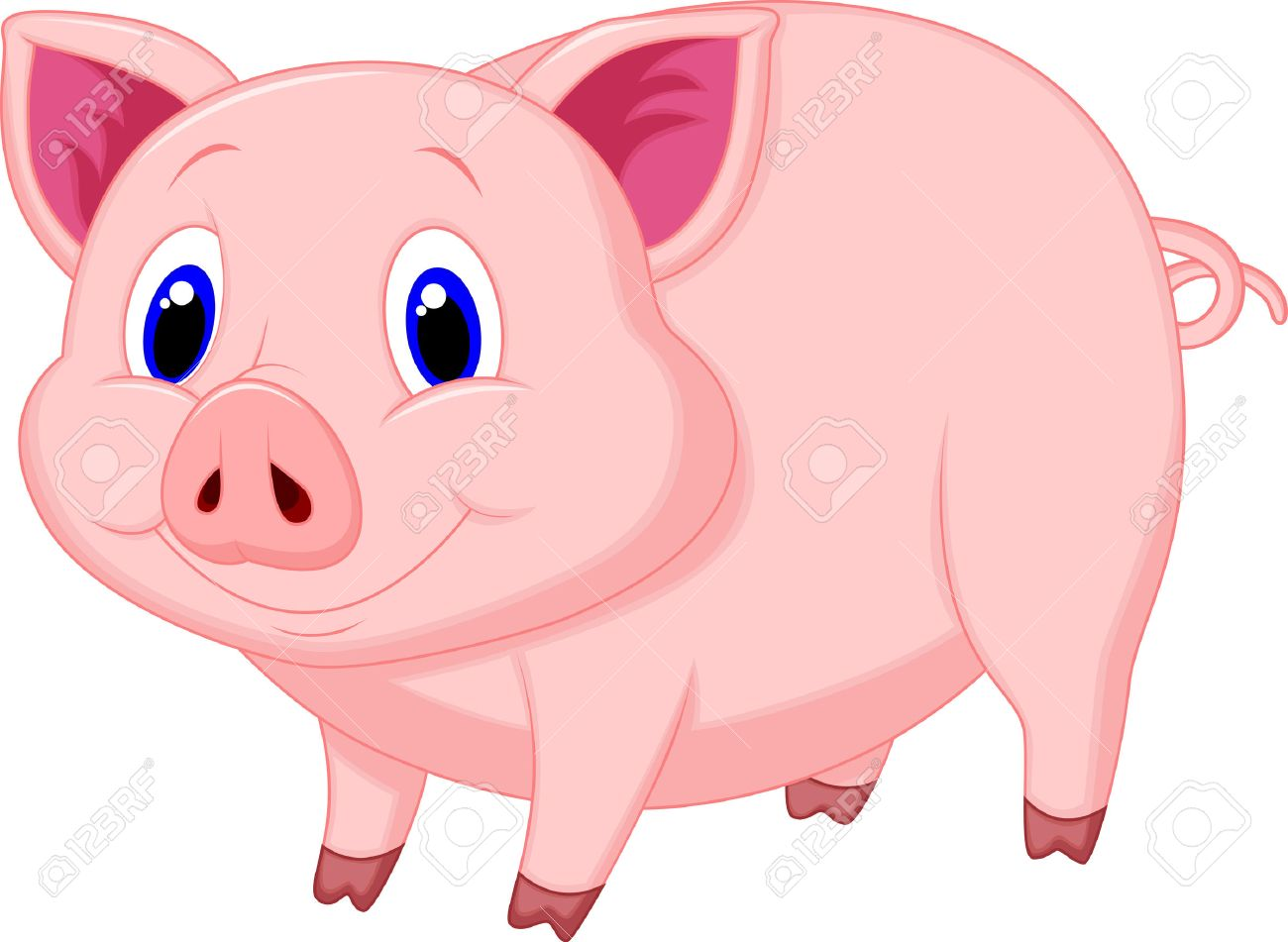 Cute Pig Cartoon Royalty Free Cliparts Vectors And Stock Illustration Image 23462839