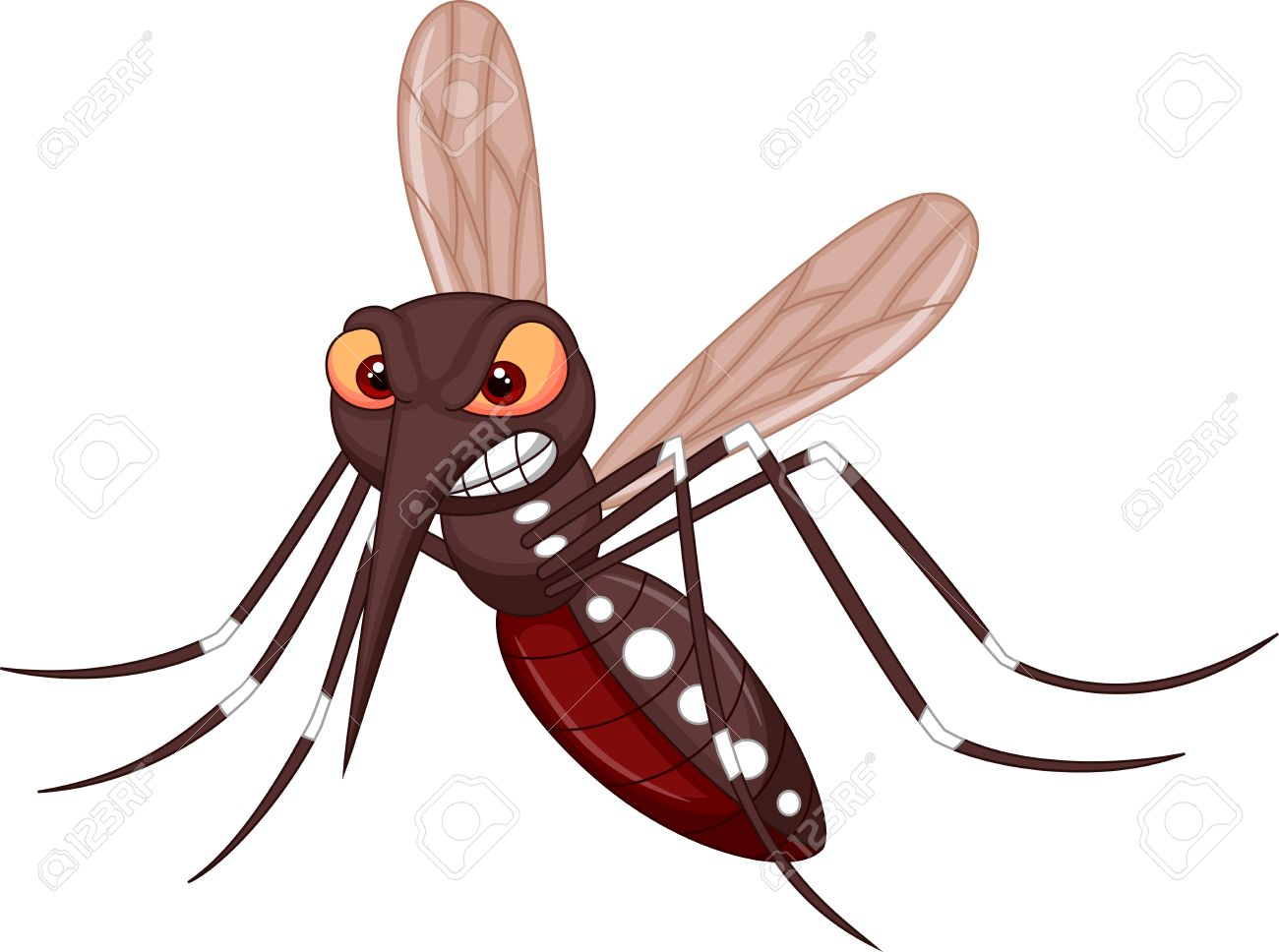 Angry mosquito cartoon Stock Vector - 23517117