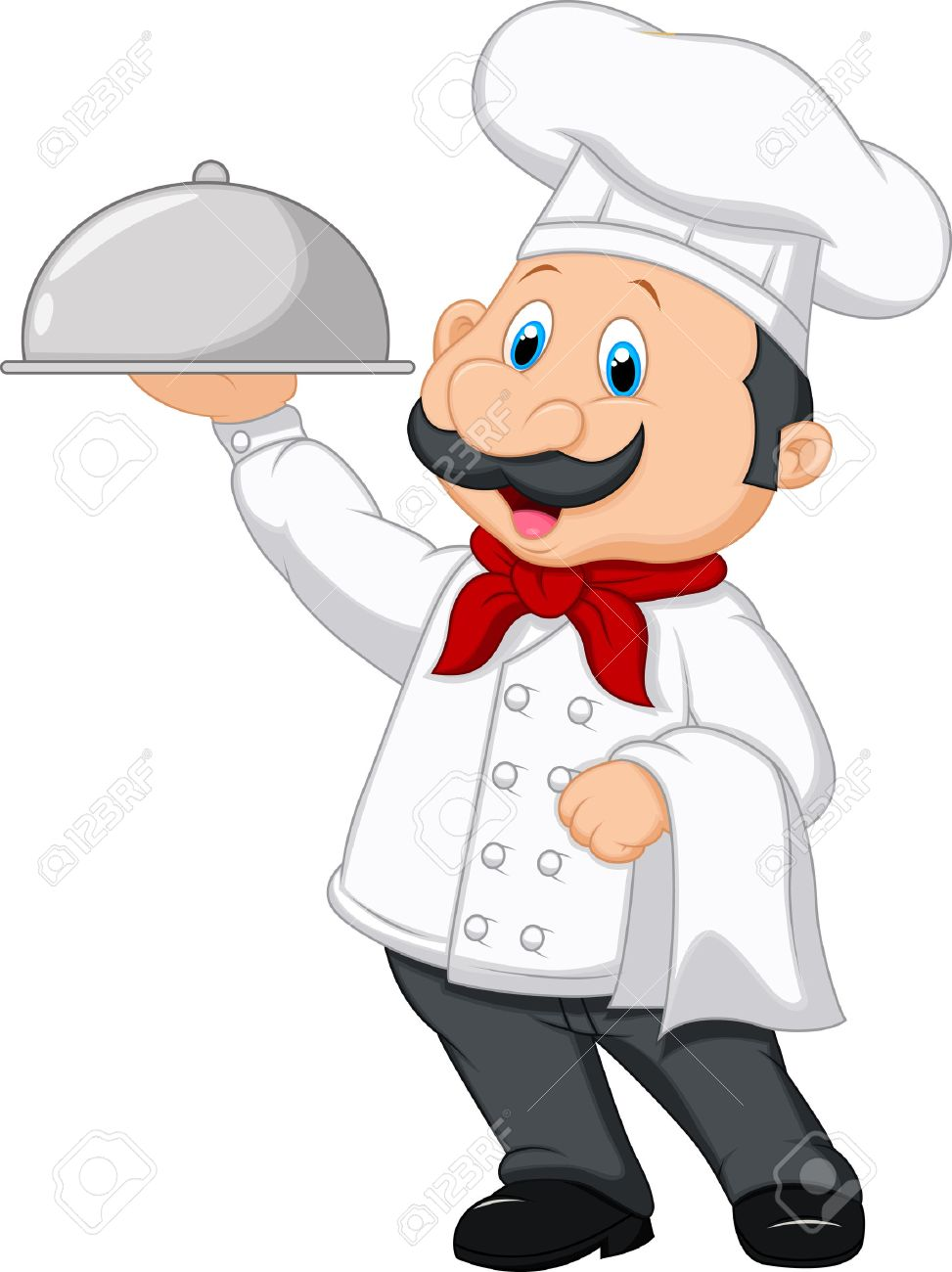 chef cartoon holding platter royalty free cliparts vectors and rh 123rf com chef cartoon pictures chef cartoon maker