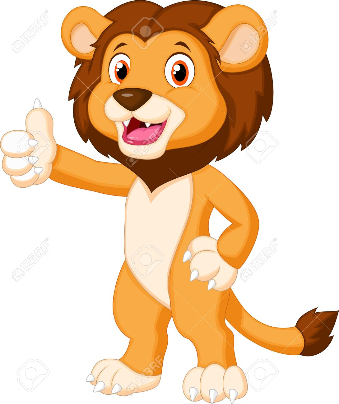 cute lion cartoon giving thumb up royalty free cliparts vectors rh 123rf com lion cartoon images free cartoon lion pictures to print