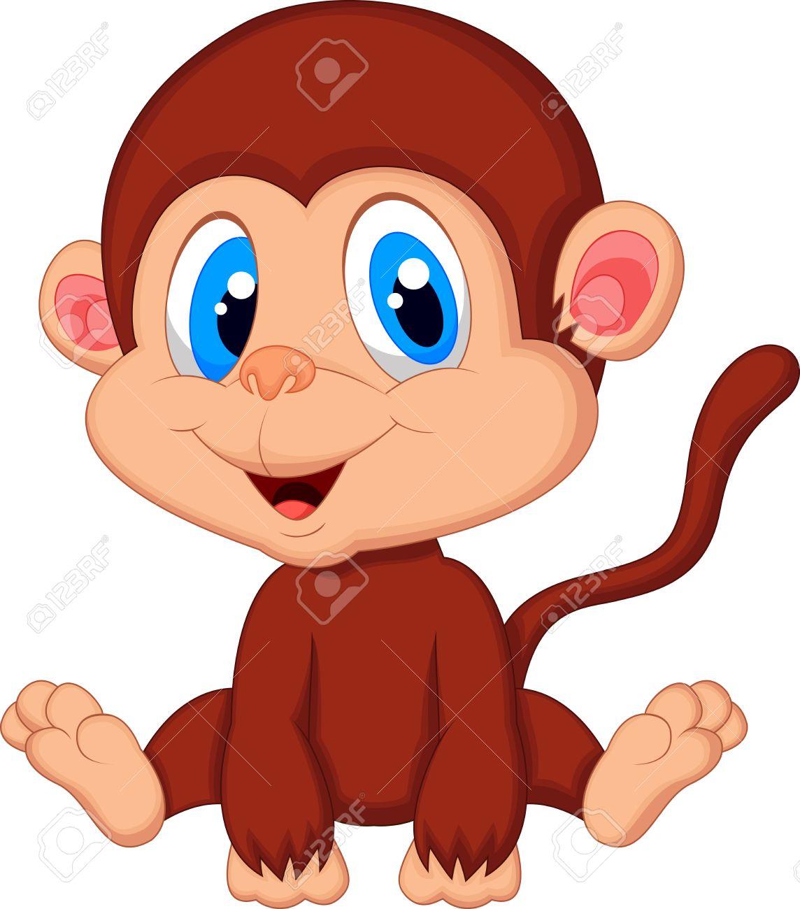 Cute Little Baby Monkeys Cute Baby Monkey Cartoon