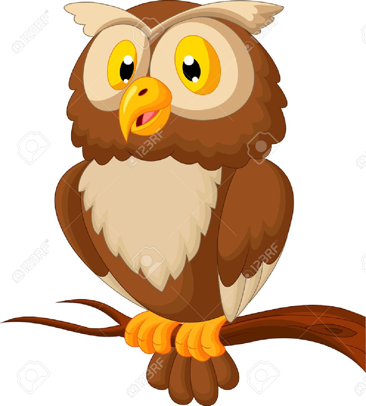 Cute Owl Cartoon Royalty Free Cliparts Vectors And Stock Illustration Image 23825861