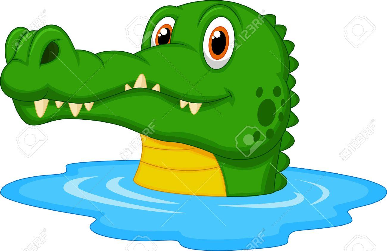 cute crocodile cartoon swimming royalty free cliparts vectors and rh 123rf com Giraffe Clip Art Swamp Trees Clip Art Silouette
