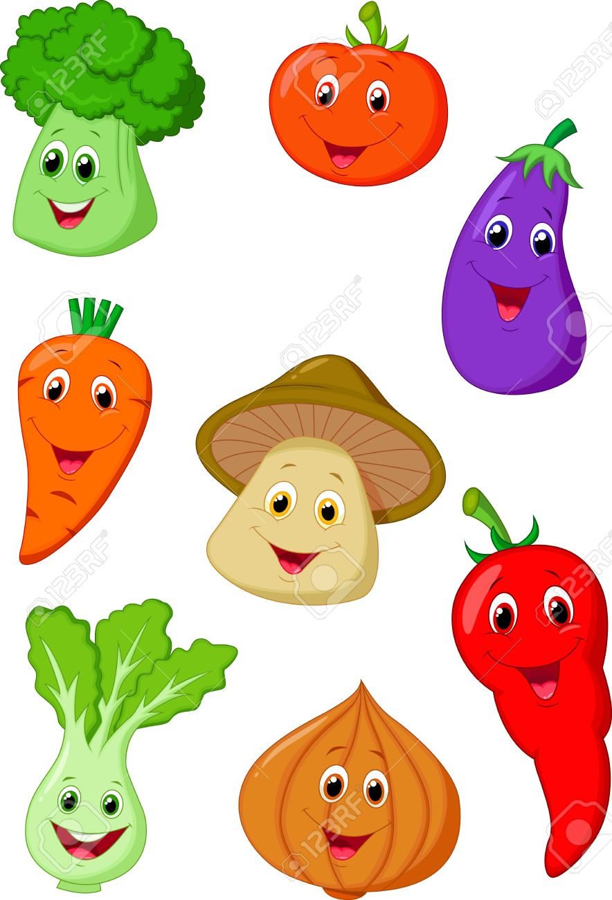かわいい野菜漫画 ロイヤリティフリークリップアート、ベクター