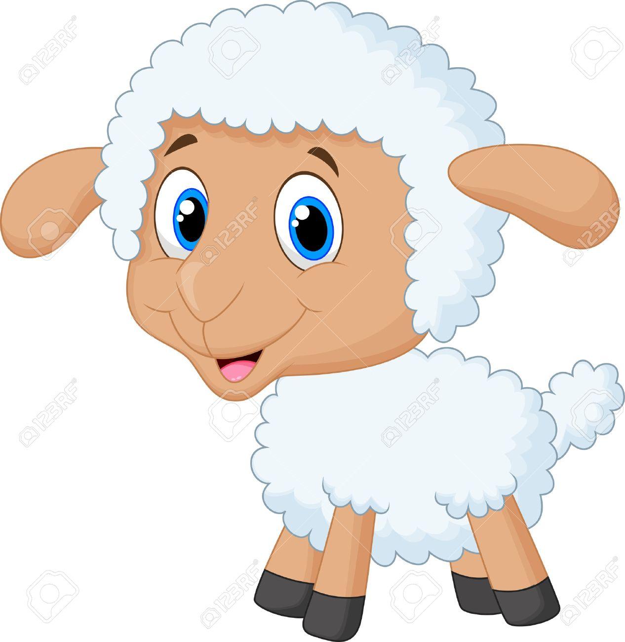 cute lamb cartoon royalty free cliparts vectors and stock rh 123rf com Cartoon Horse Cartoon Sheep