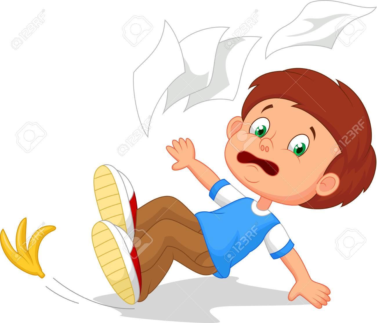 Cartoon boy fall down - 27166386