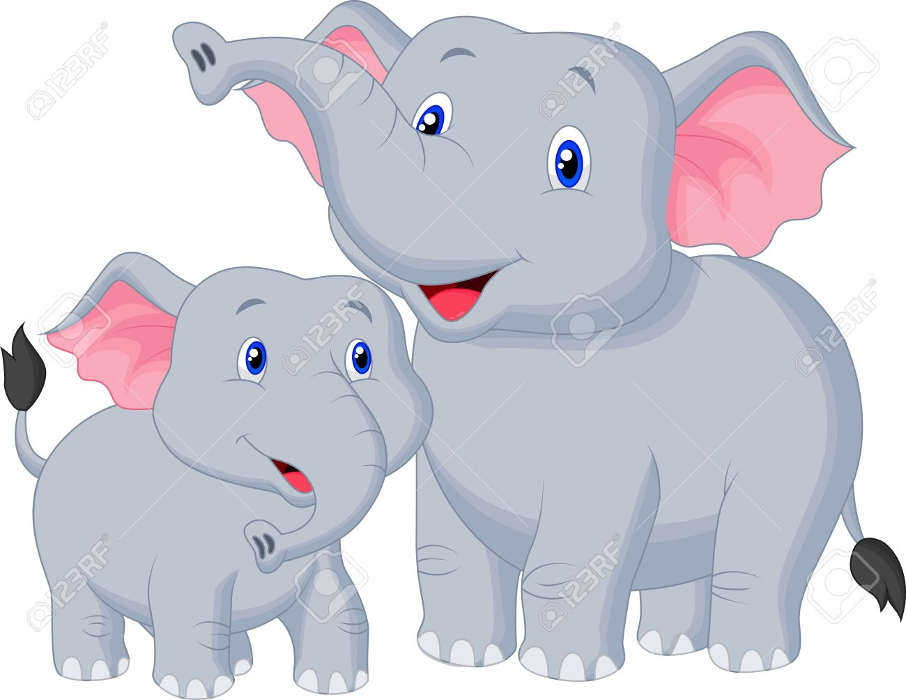 - Mother And Baby Elephant Cartoon Royalty Free Cliparts, Vectors