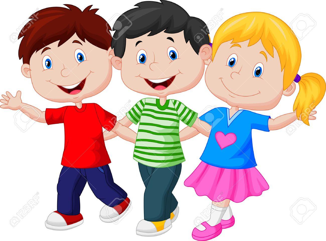 happy young children cartoon stock vector 27167205 - Children Cartoon Pictures